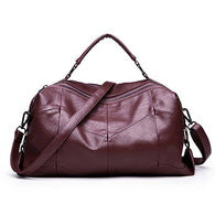Fashion Women's Leather Top-Handle Tote - Handbags Wallets Galore