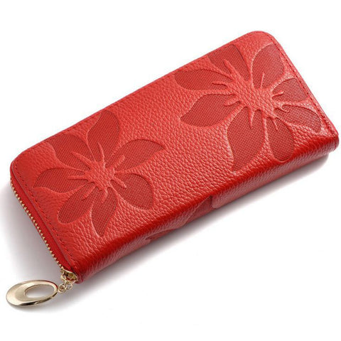 Fashion Flower Print Quality Leather Wallet - 5 Colors - Handbags Wallets Galore