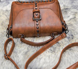 Vintage Leather Mini Shoulder Handbag - Handbags Wallets Galore