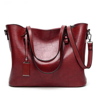 Top Handle Satchel Leather Handbag - 4 Colors - Handbags Wallets Galore