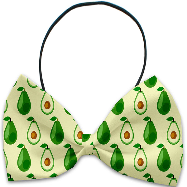 Avocado Paradise Dog Bow Tie