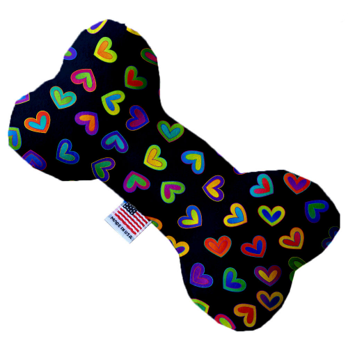 "6"" Plush Bright Hearts Bone Dog Toy - Bark Label"