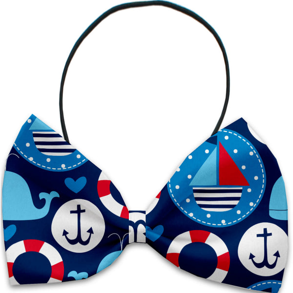 Anchors Away Dog Bow Tie