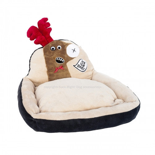 Beige Reindeer Dog Bed - Bark Label