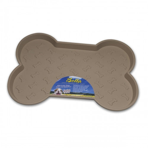 Bella No Spill Tan Dog Placemat - Bark Label