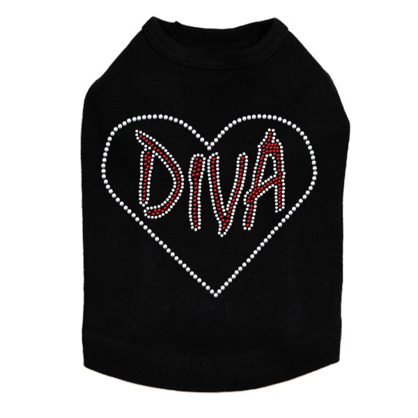 Diva Heart Dog Tank - Bark Label
