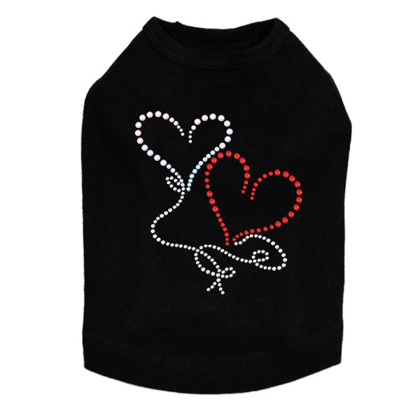 Floating Hearts Dog Tank - Bark Label