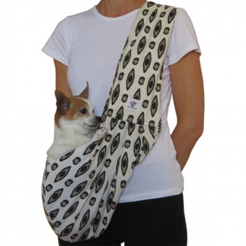 Black/Tan/Cream Sling Dog Carrier - Bark Label