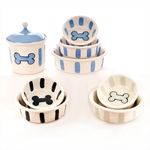 Bones And Stripes Series Dog Dinnerware - Bark Label