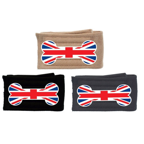British Bone Flag Dog Belly Band - Bark Label