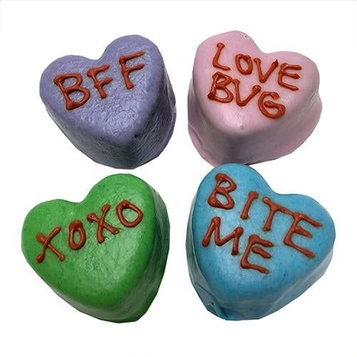 Candy Heart Cake Bites Dog Treats - Bulk - Bark Label