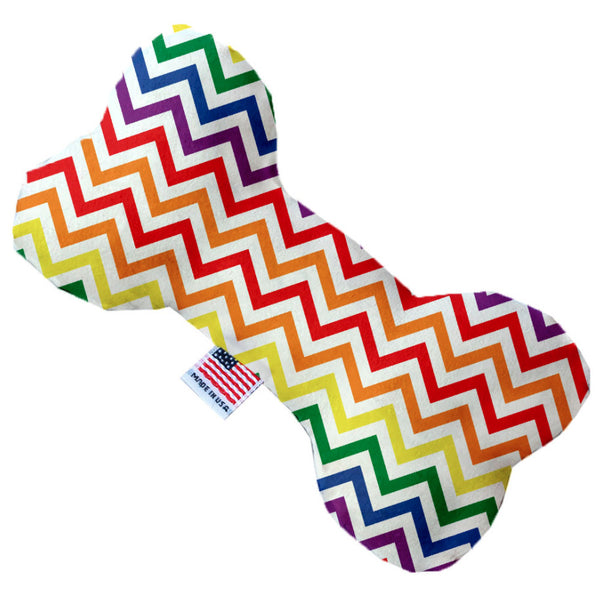 Rainbow Chevron Bone Dog Toy