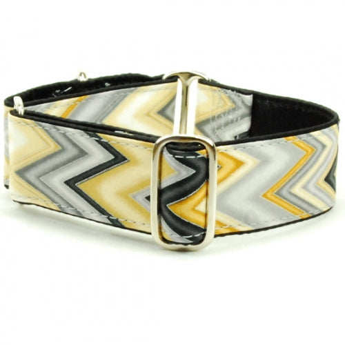 "Chevron Sizzle Dog Collar 1"" - Bark Label"