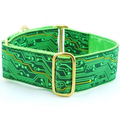 "Circuitry Dog Collar 1.5"" - Bark Label"