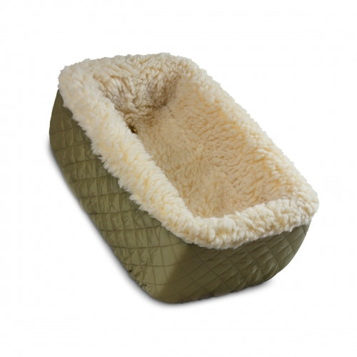 Console Dog Car Seat Khaki Quilted