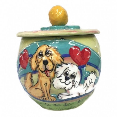 Cozy Co-Cuties Dog Treat Jar - Bark Label