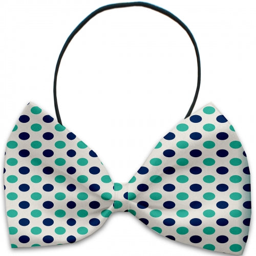 Aquatic Dots Dog Bow Tie