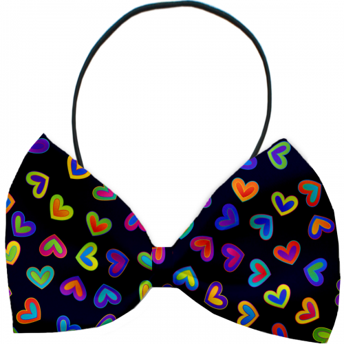 Bright Hearts Dog Bow Tie - Bark Label
