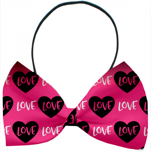 Pink Love Dog Bow Tie - Bark Label