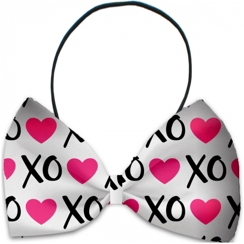 Pink XOXO Dog Bow Tie - Bark Label