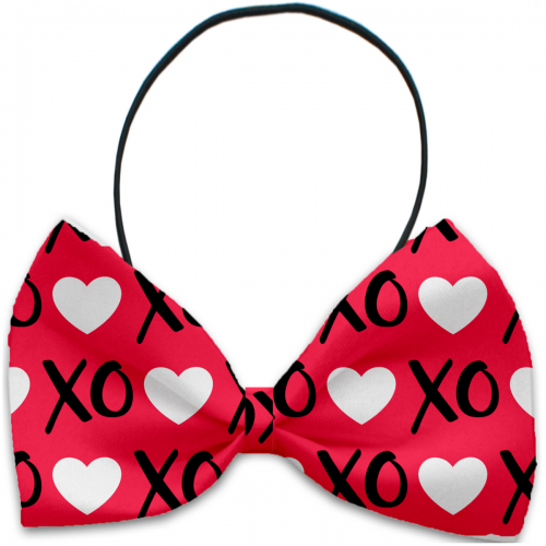 Red XOXO Dog Bow Tie - Bark Label