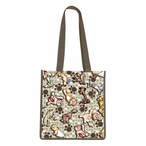 Dog Frenzy Tote Bag