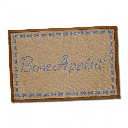 Bone Appetit Dog Placemat - Bark Label