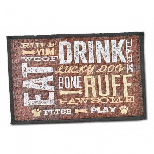 Dog Day Expressions Dog Placemat - Bark Label
