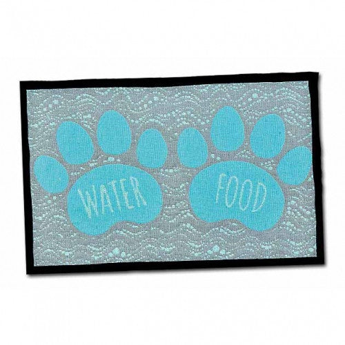 Food And Water Dog Placemat - Bark Label