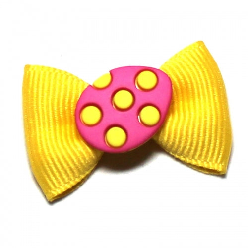 Easter Egg Hunt Yellow Dog Bow