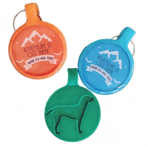 Adventure Is Out There Eco-Friendly Dog ID Tag - Bark Label