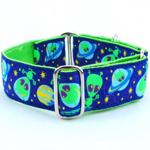 "Extraterrestrials Dog Collar 1.5"" - Bark Label"