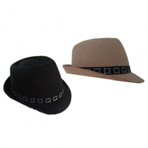 Felt Fedora Dog Hat - Bark Label