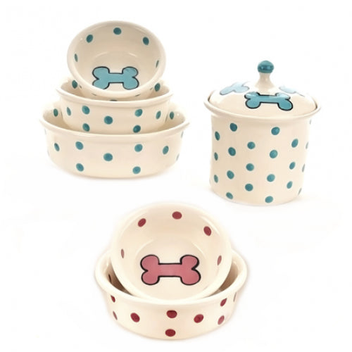 Green Dots/Red Dots Series Dog Dinnerware - Bark Label