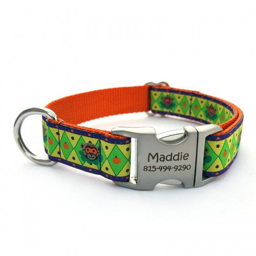 Halloween Bear Dog Collar With Personalized Buckle - Bark Label