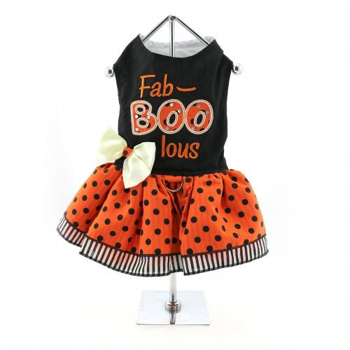Holiday Fab-Boo-Lous Dog Harness Dress - Bark Label