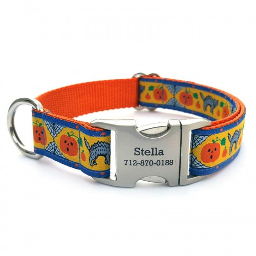 Jack-N-Cat Dog Collar With Personalized Buckle - Bark Label