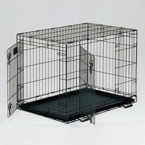 Life Stages Double Door Dog Crate - Bark Label