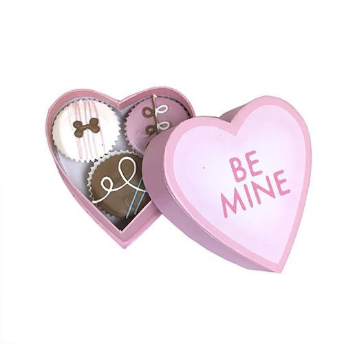 Mini Candy Heart Box Dog Treats - Bark Label
