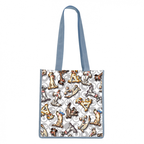 Paws, Bones And Dogs Tote Bag