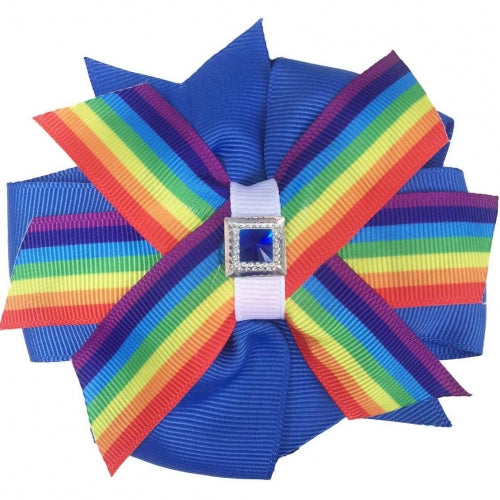 Pinwheel Pride Dog Collar Bud - Bark Label