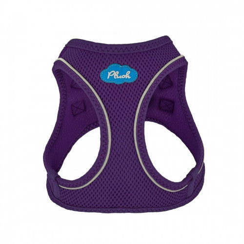 Plush Step In Purple Air Mesh Dog Harness - Bark Label