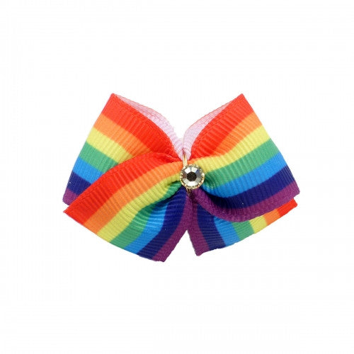 Pride Dog Hair Bow - Bark Label
