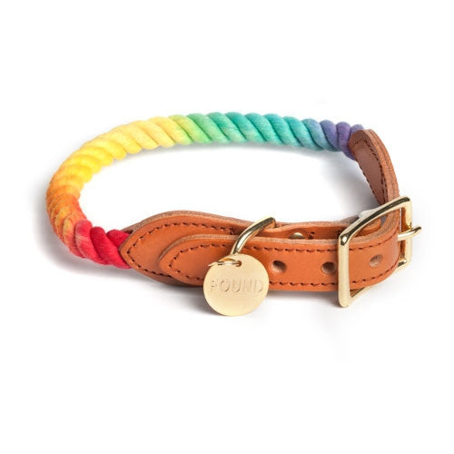 Prismatic Rope Dog Collar - Bark Label