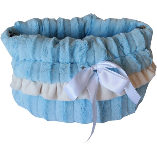 Reversible Baby Blue Snuggle Bug Dog Carrier