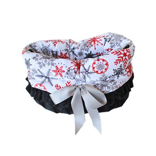 Reversible Red Snowflake Snuggle Bug Dog Carrier