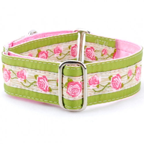 "Rosewood Cream Dog Collar 1"" - Bark Label"
