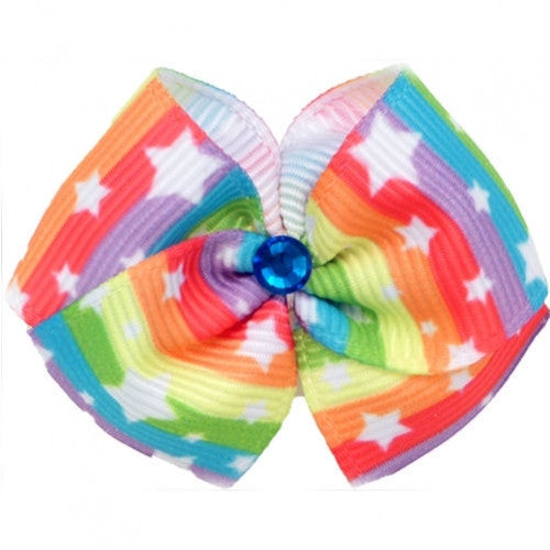 Starlight Dog Hair Bow - Bark Label