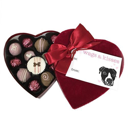 Velvet Heart Box Dog Treats - Bark Label