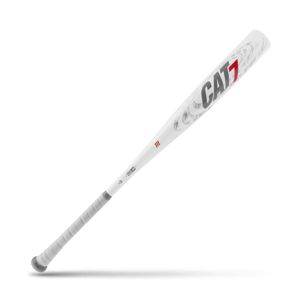 Marucci CAT 7 White BBCOR Baseball Bat: MCBC7C
